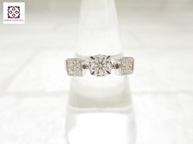 ブルガリ BVLGARI K18WG ダイヤモンド リング ルチア ご来店のお客様よりお買取り♪