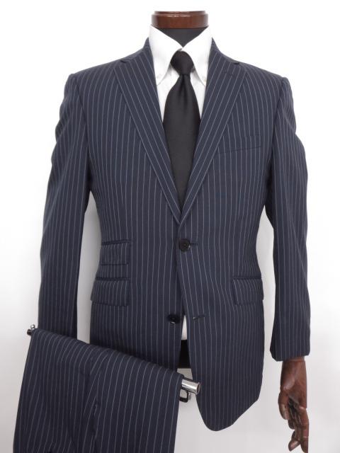 バーバリーブラックレーベル BURBERRY BLACK LABEL per110's ストライプ シングル スーツ 宅配買取にてお買い取り♪