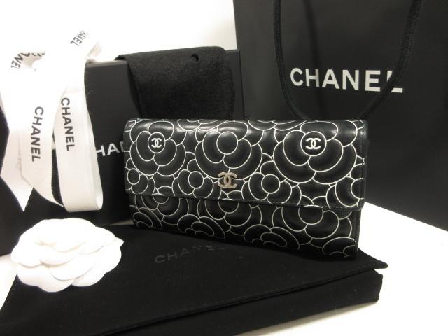 シャネル CHANEL ニューカメリア ホックタイプ 長財布 ご来店のお客様よりお買取り♪